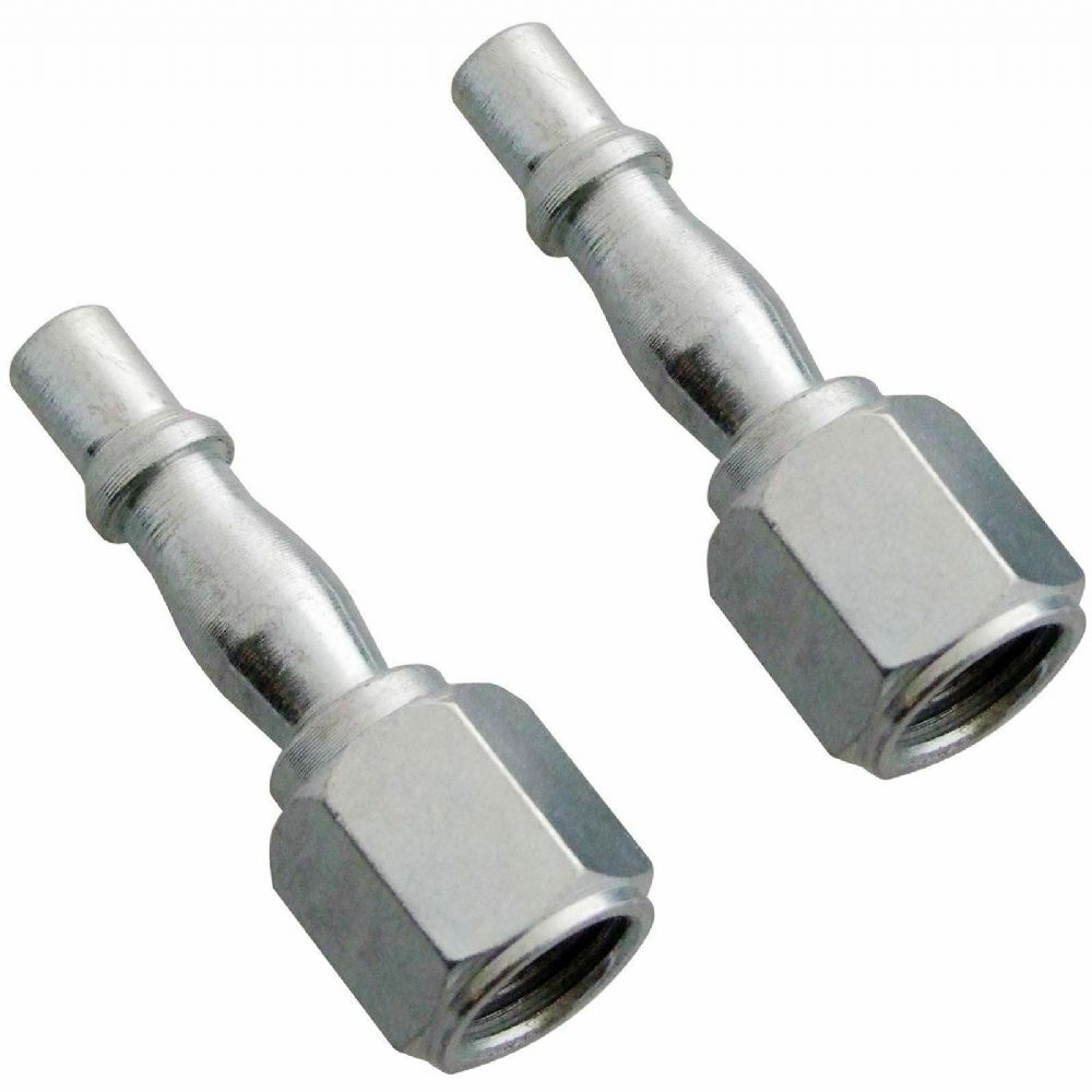"New Amtech Y0410 2pc Female Bayonet Air Line Fittings Couplers 1/4"" BSP Hose 1 p"